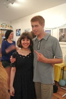 Editor-in-Chief Joanna with Robert aka boyfriend aka the human fly