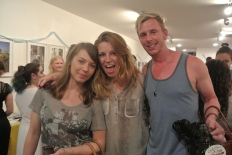 frequent inconnu model Claudia with Monika and Josh