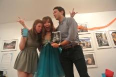 Hannah, Kellie, David and the zine